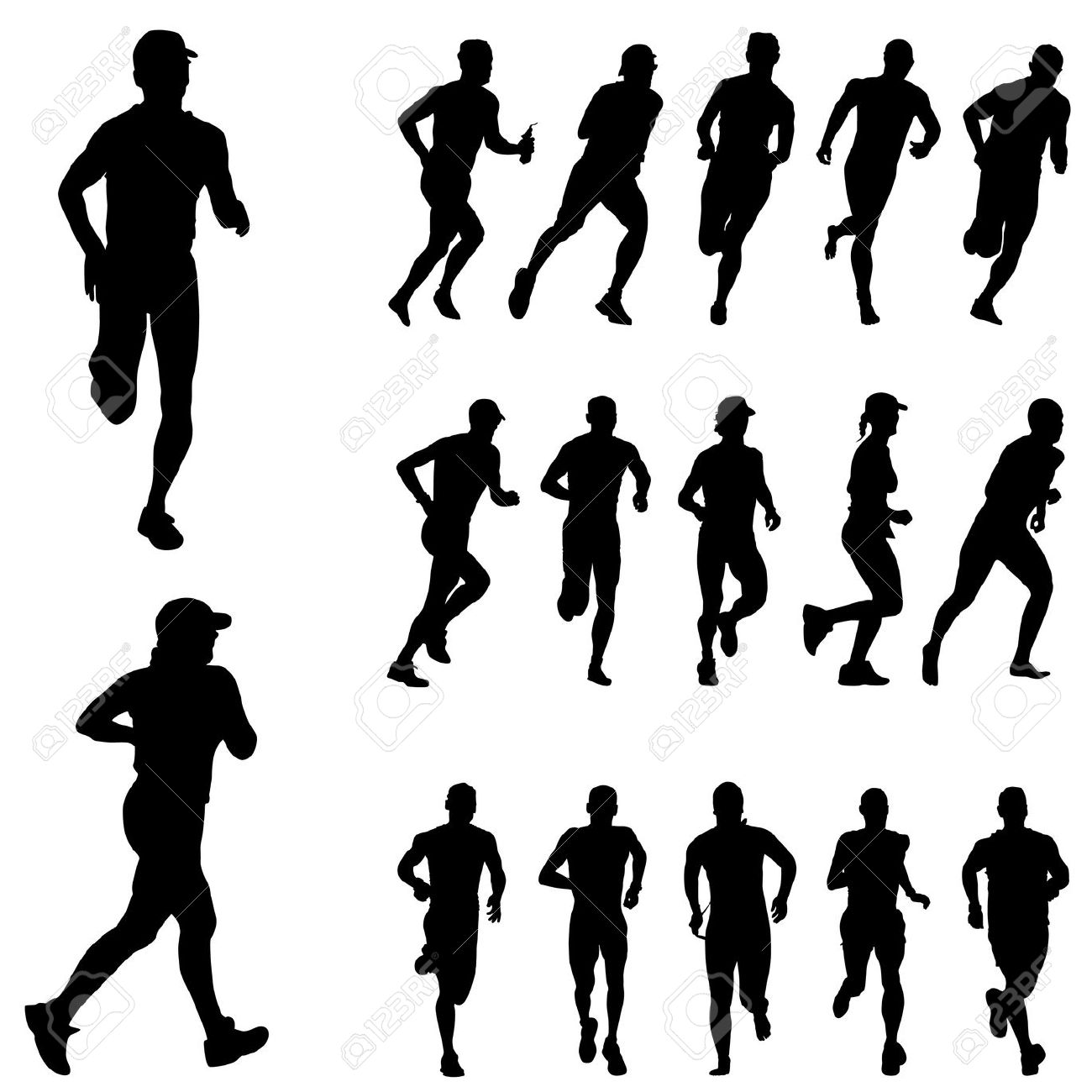 Exercising Clipart Running 20 Free Cliparts