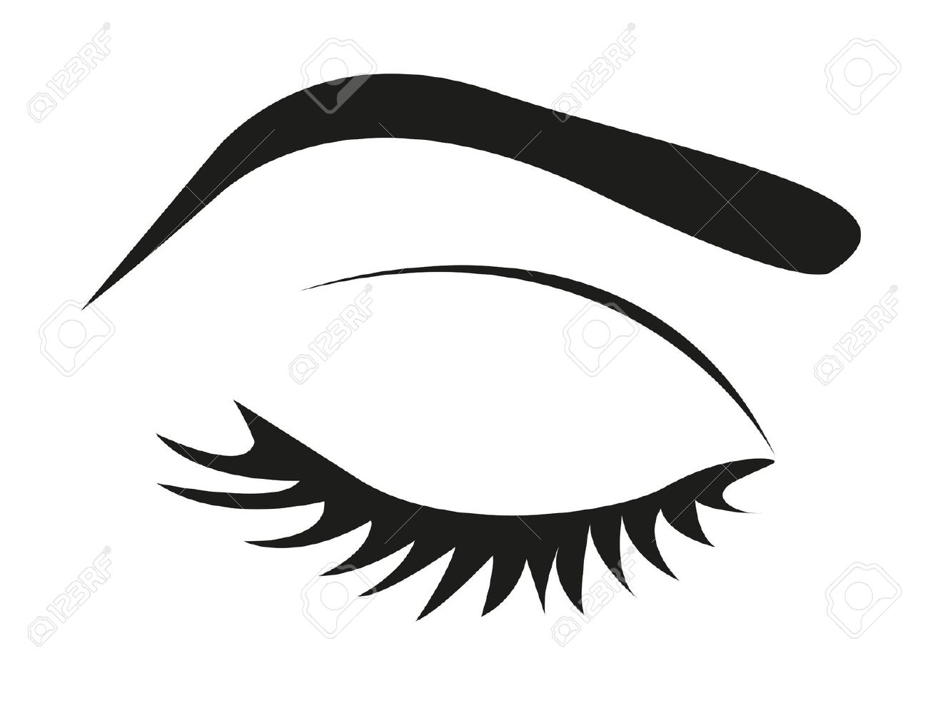 Eyebrow Clipart Black And White