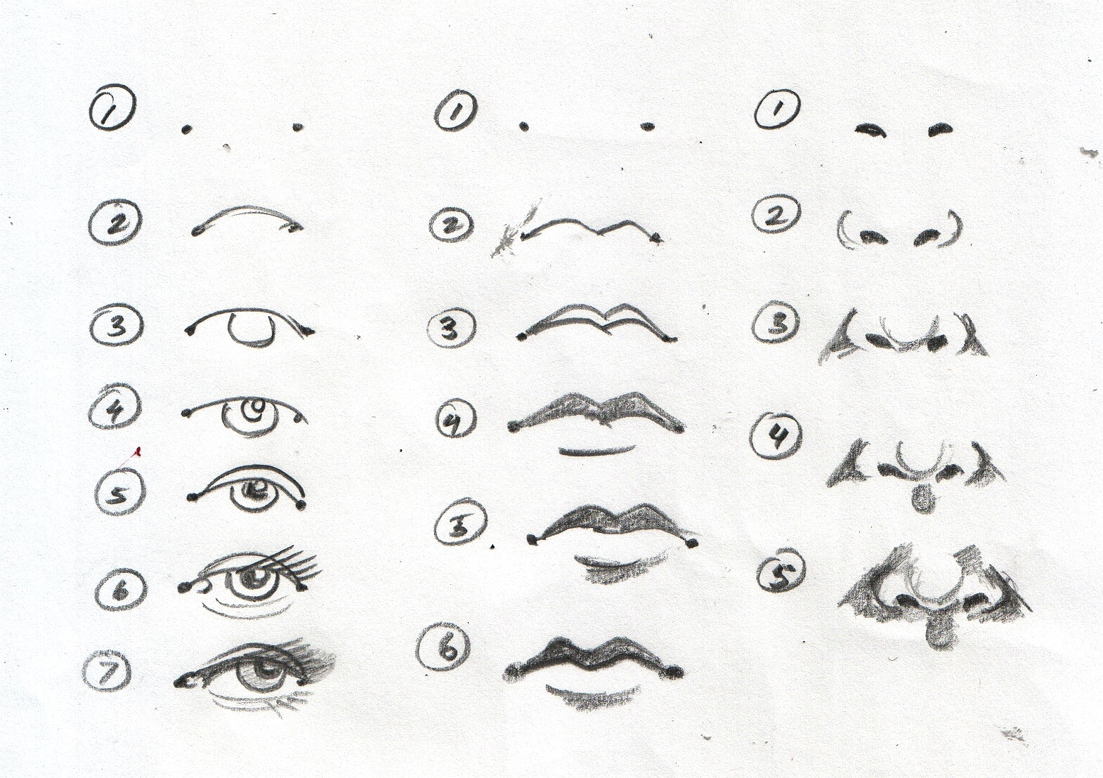 Eyes And Mouth Clipart Drawing