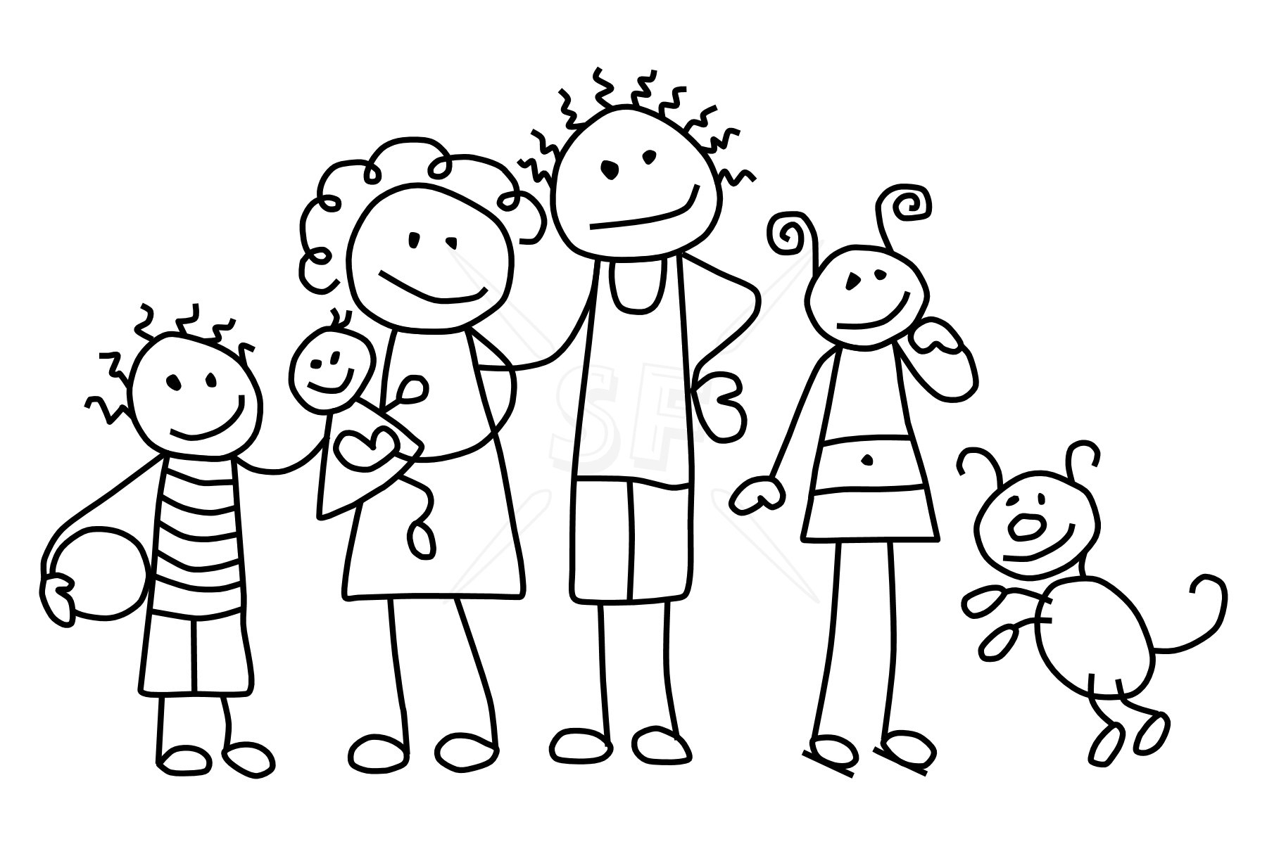 Stick Family Clipart Free