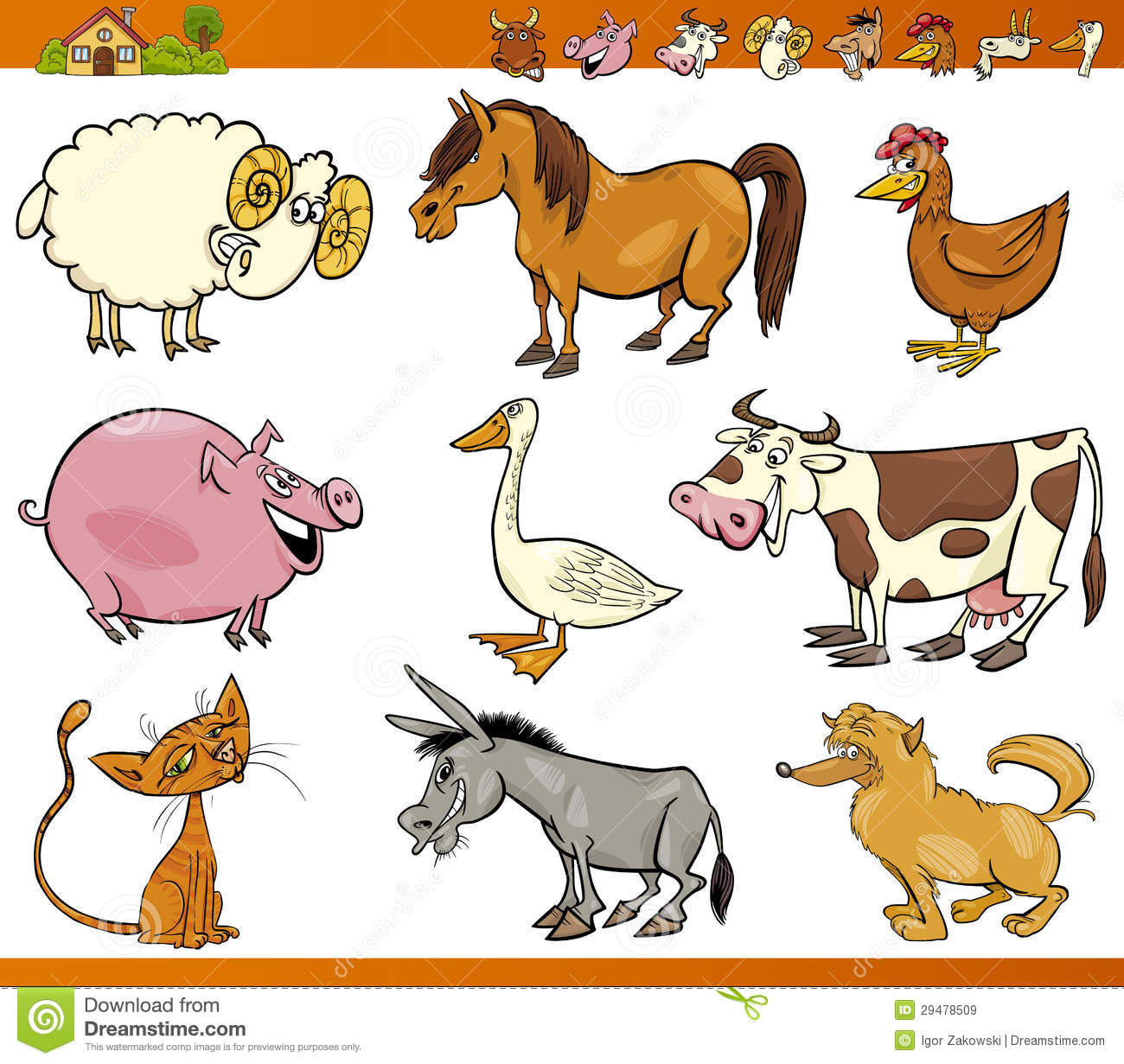 Farm Animals Clipart Sets 20 Free Cliparts