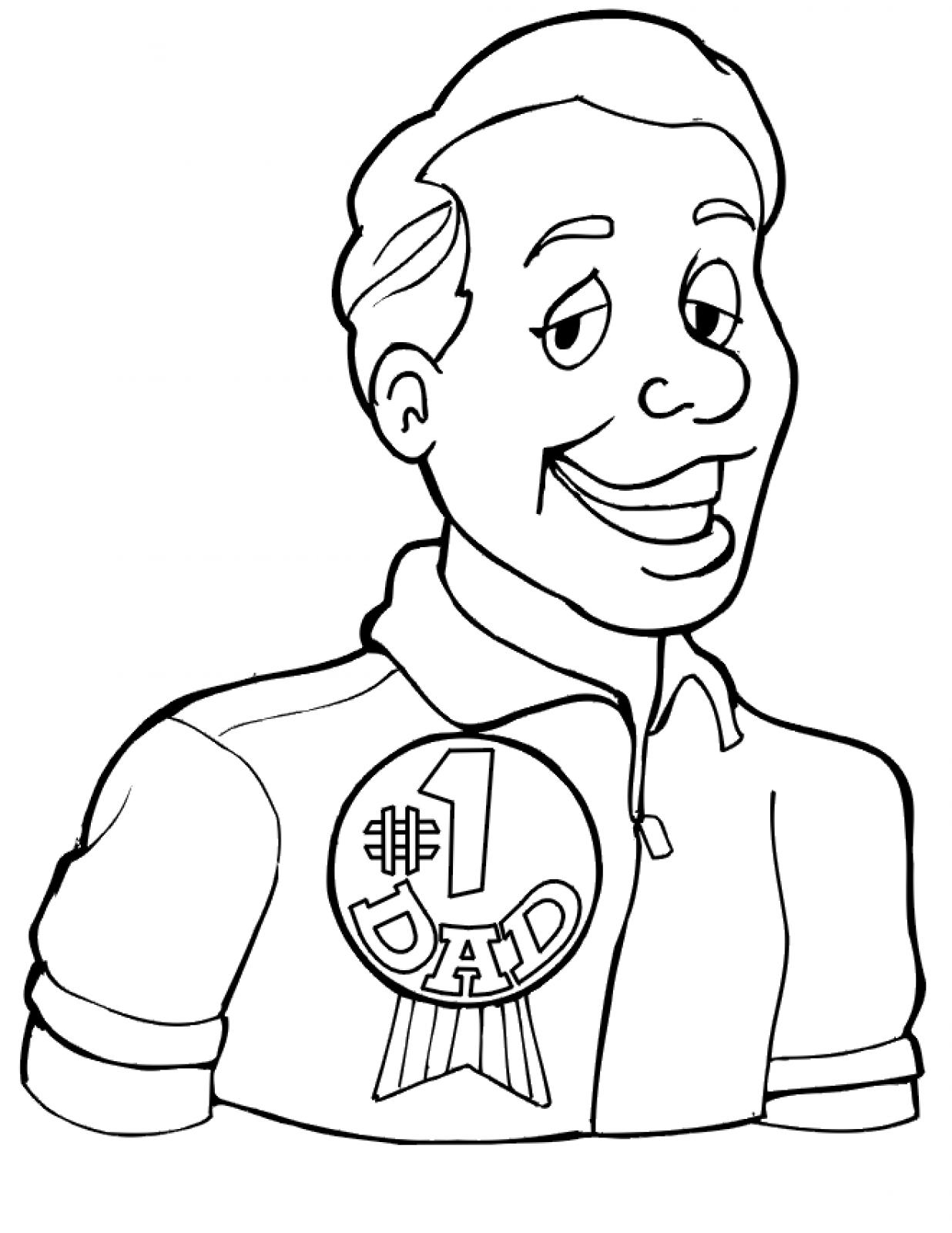 Father Playing Black And White Clipart