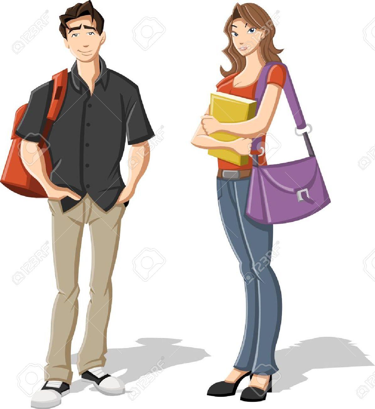 Female Student Clipart