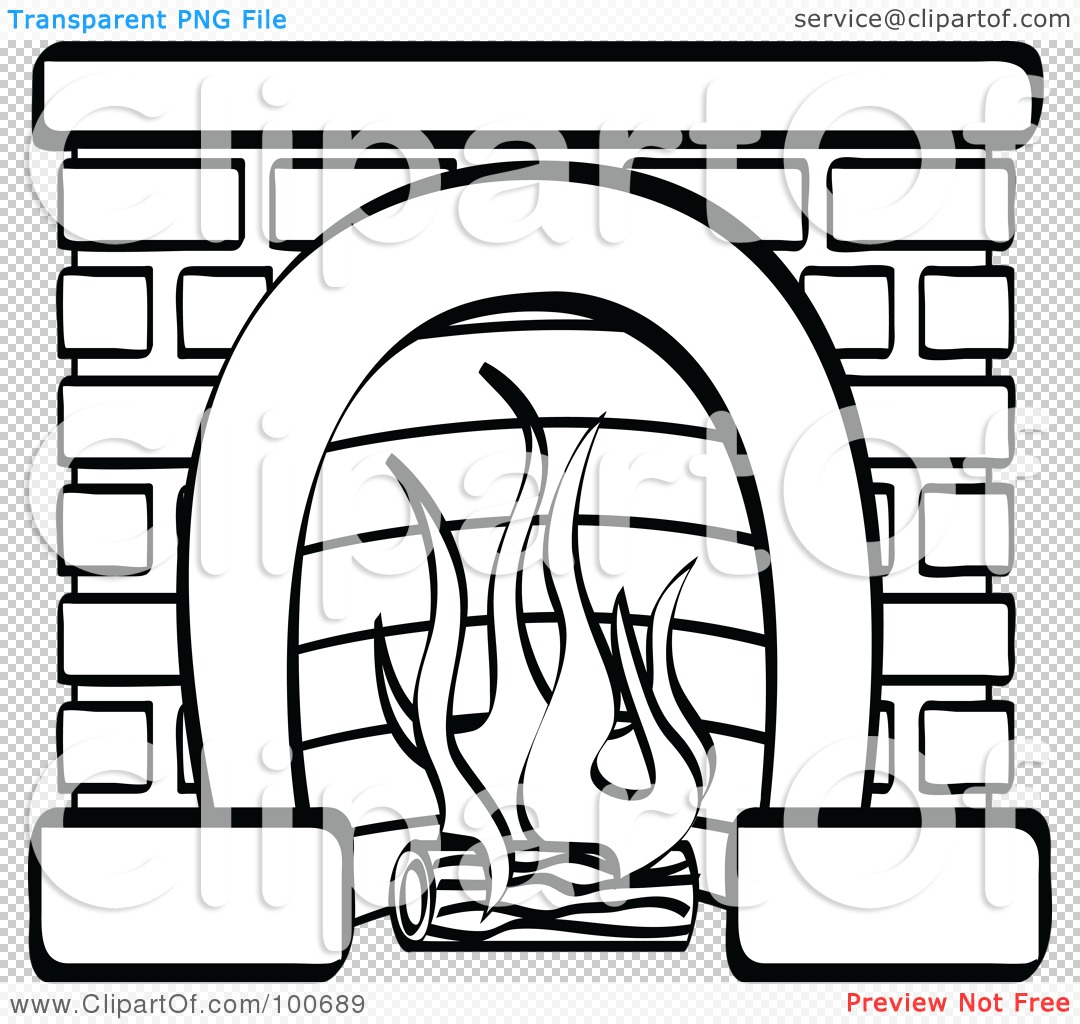 Fireplaces Clipart