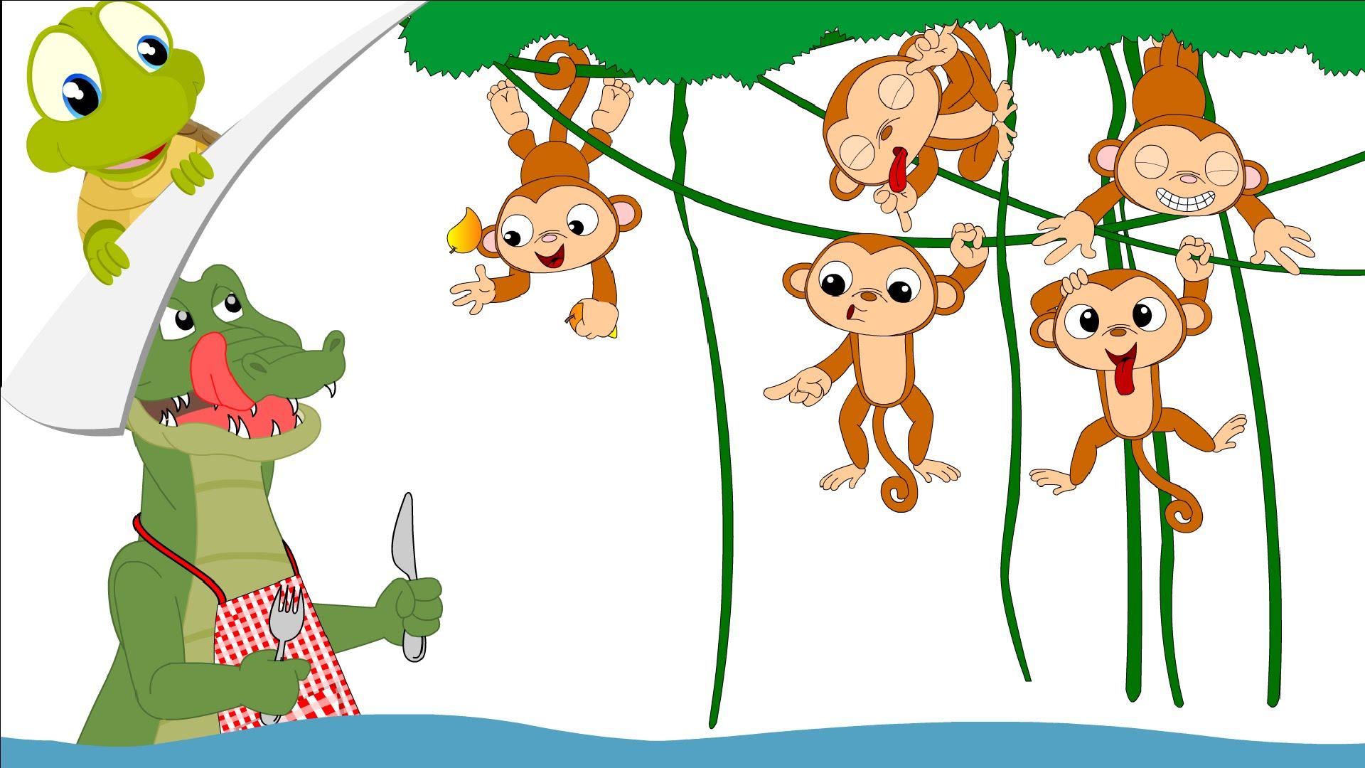 Five Little Monkeys In A Tree Clipart 20 Free Cliparts