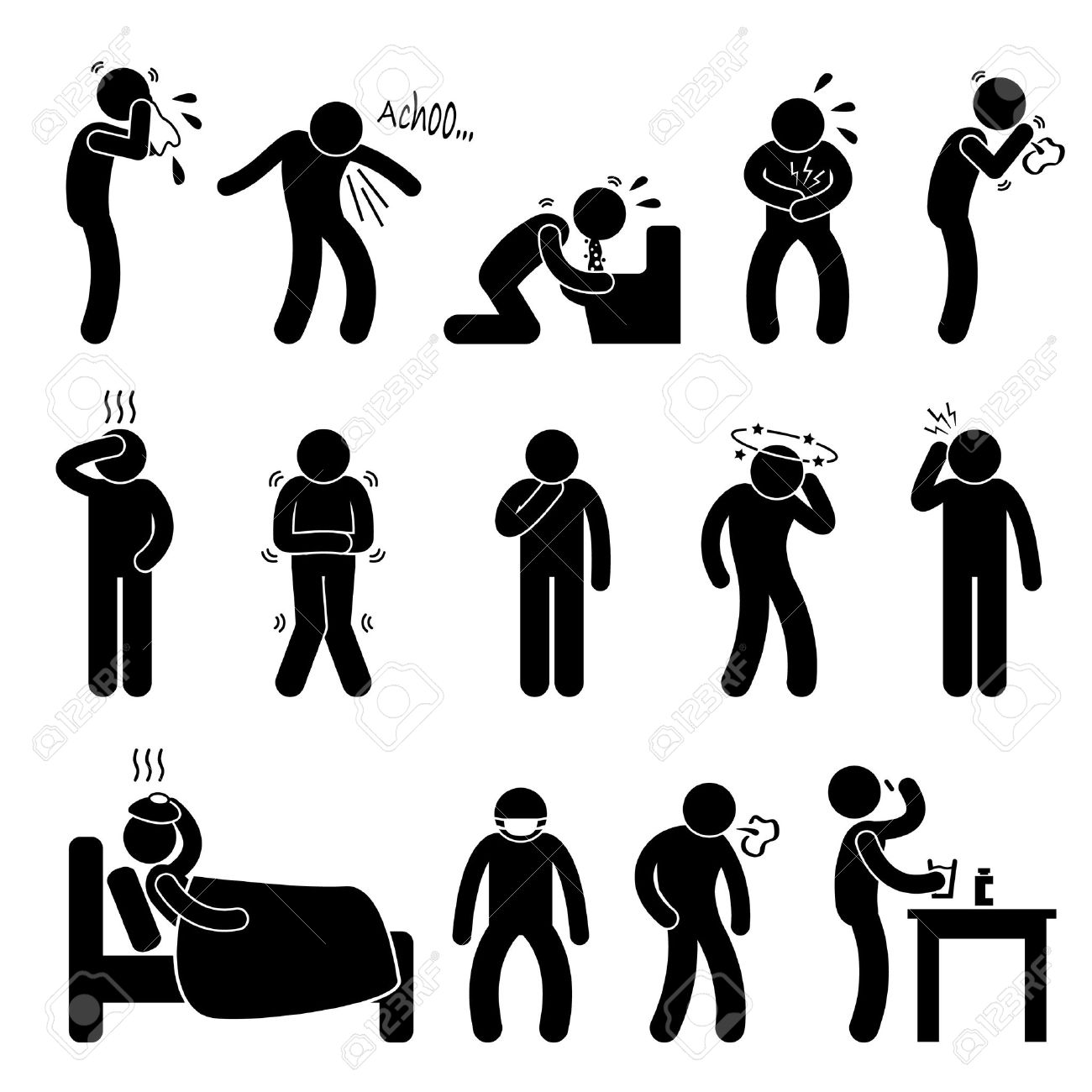 Flu Figure Clipart