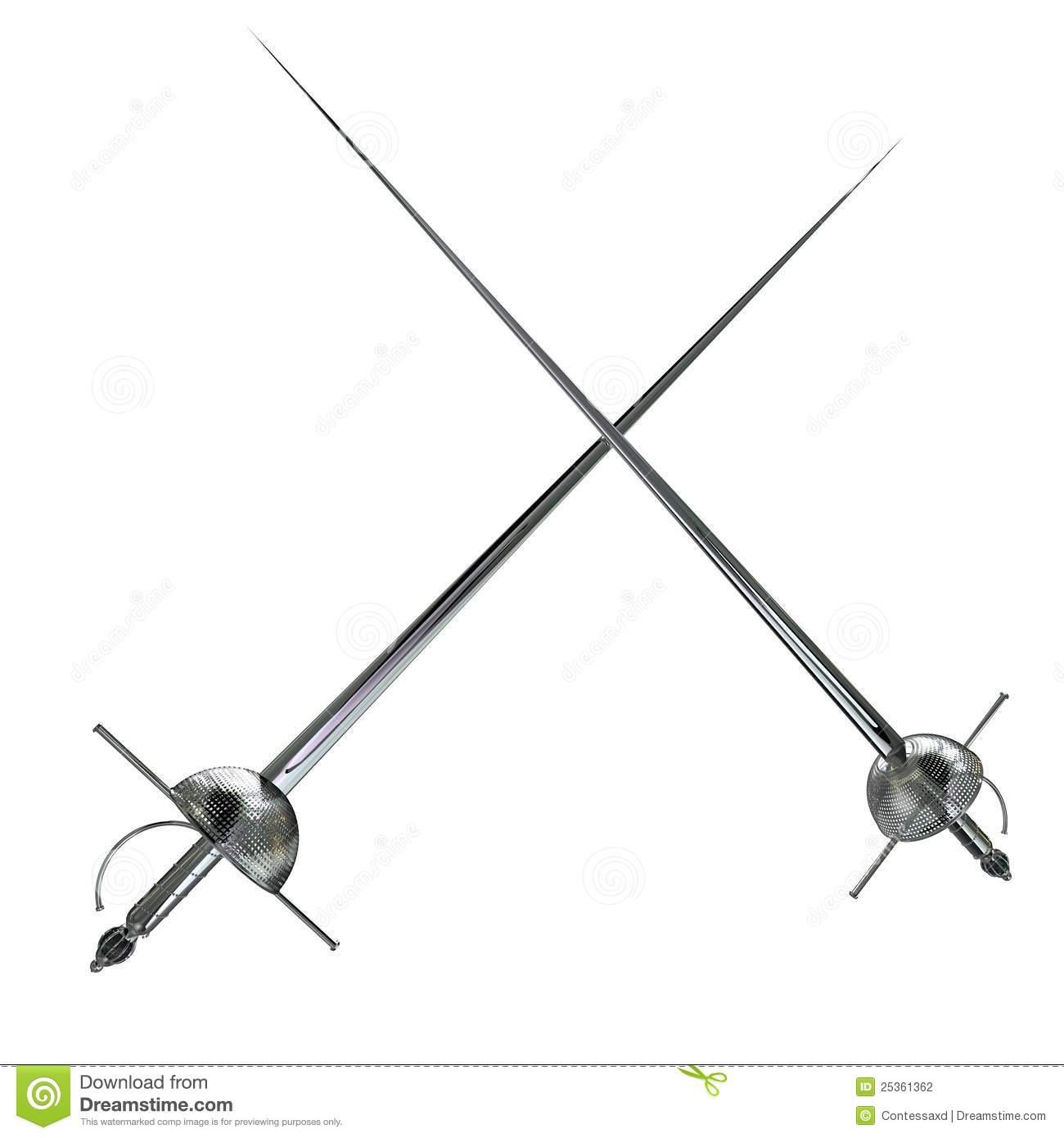 Foil Fencing Clipart