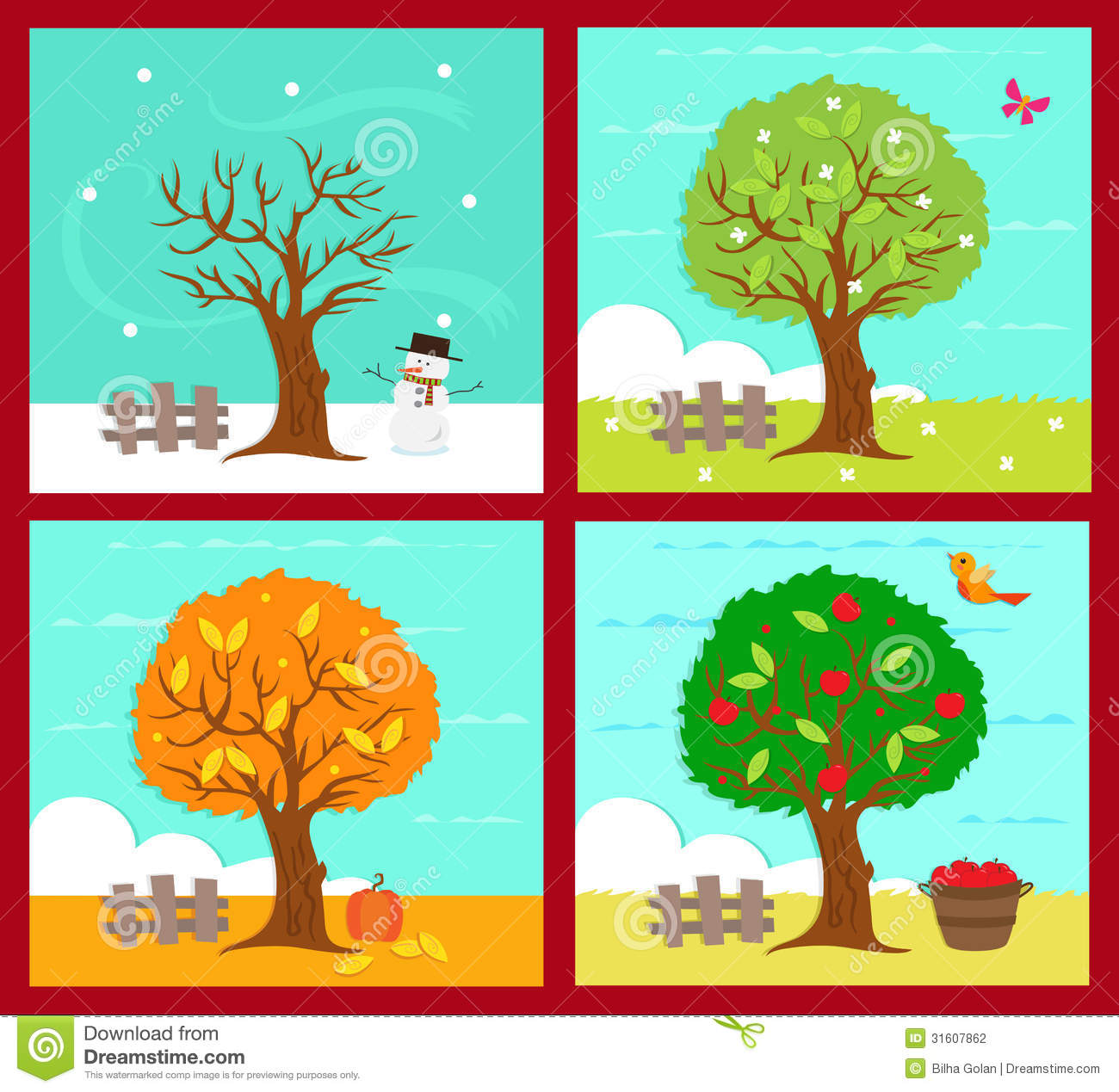 The Four Seasons Clipart