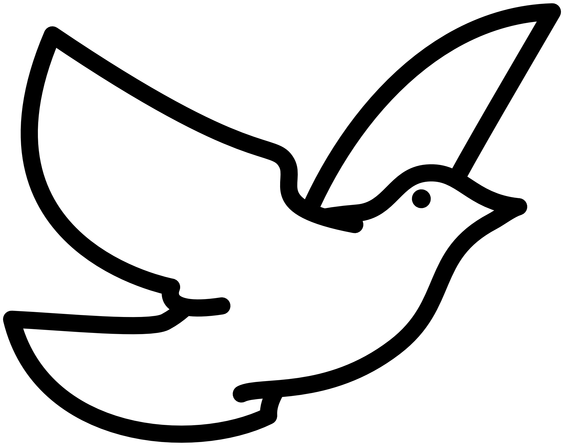 Free Black And White Large Print Religious Dove Of Peace Christmas Clipart