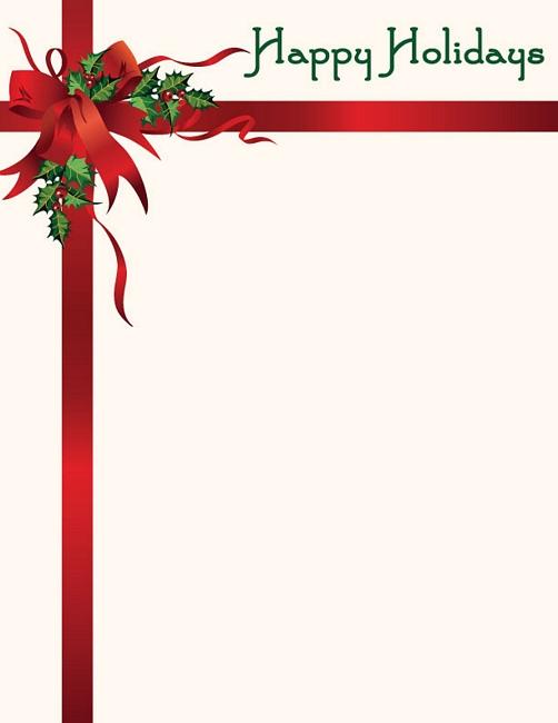 Free Christmas Letterhead Clipart Clipground