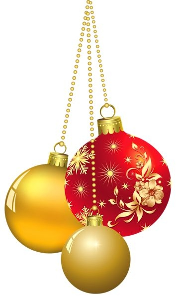 free christmas silver and gold ornament clipart 2x4 ... (358 x 600 Pixel)