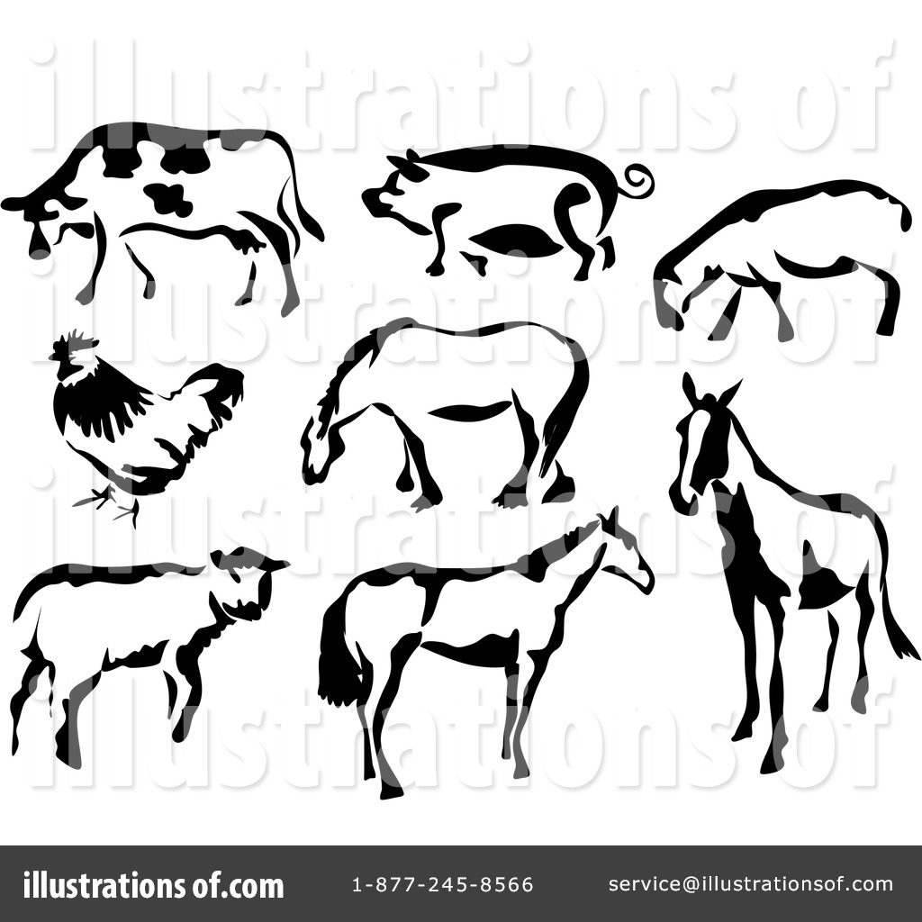 Free Farm Animal Clipart Black And White