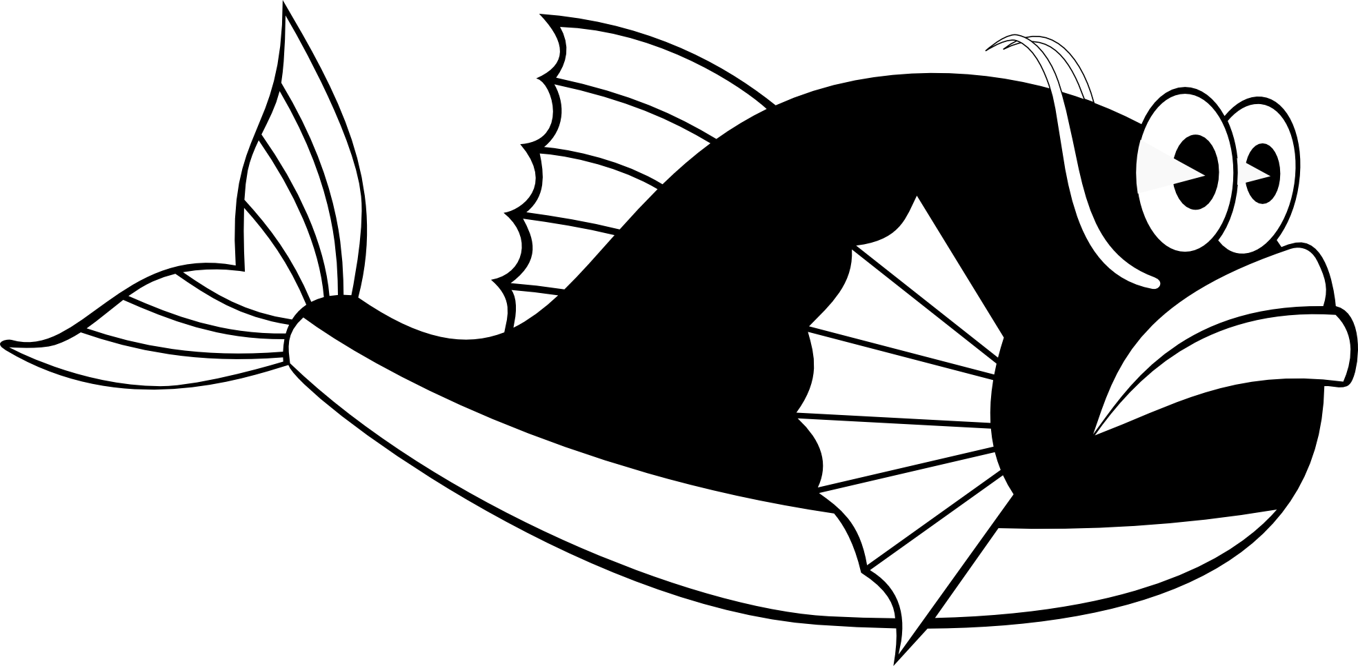 Free Whale Clipart Black And White