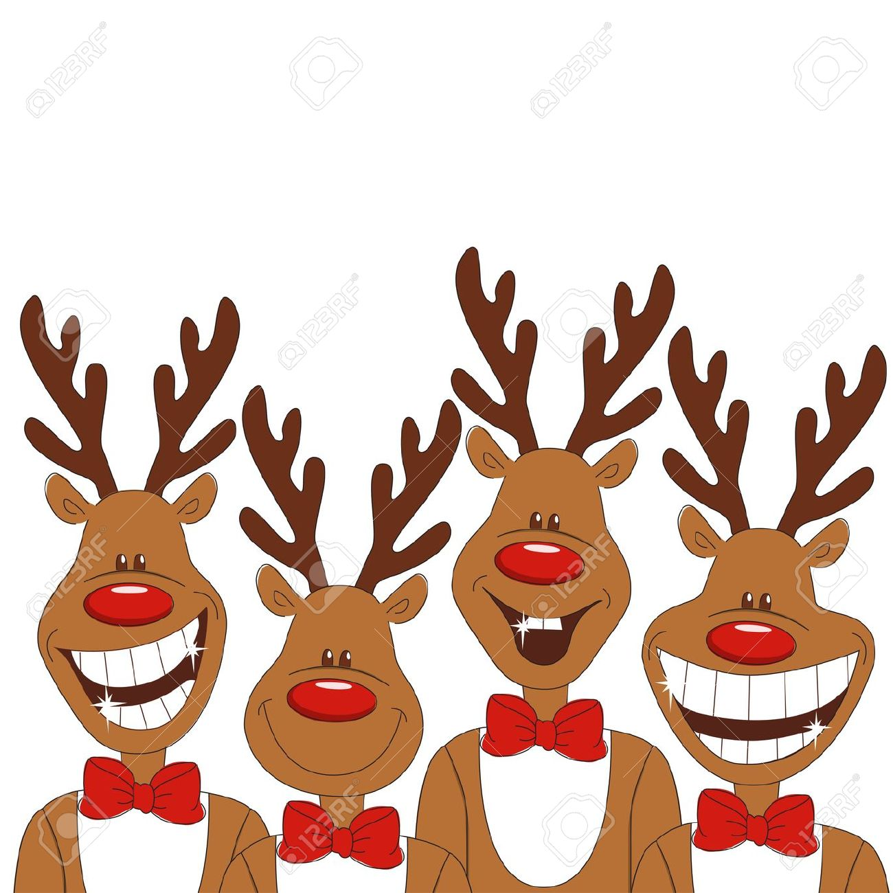 Funny Christmas Reindeer Clipart Clipground