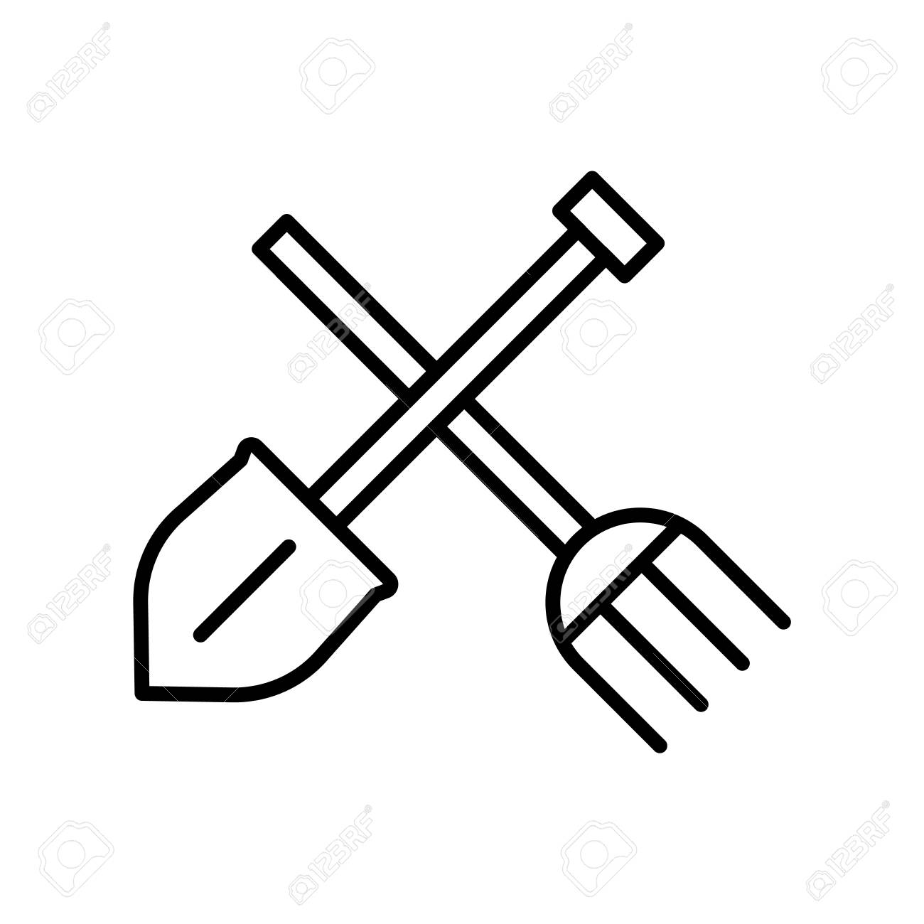 Gardening Tools Clipart Black And White 10 Free Cliparts