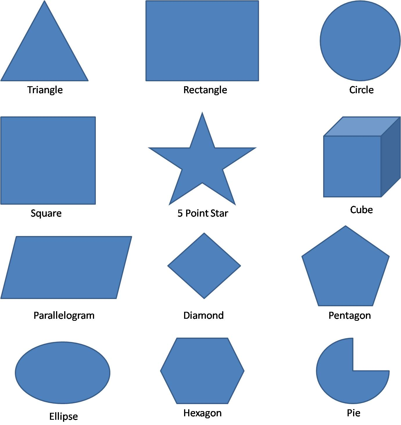 Geometry 8 Piece Rectangle Clipart Math