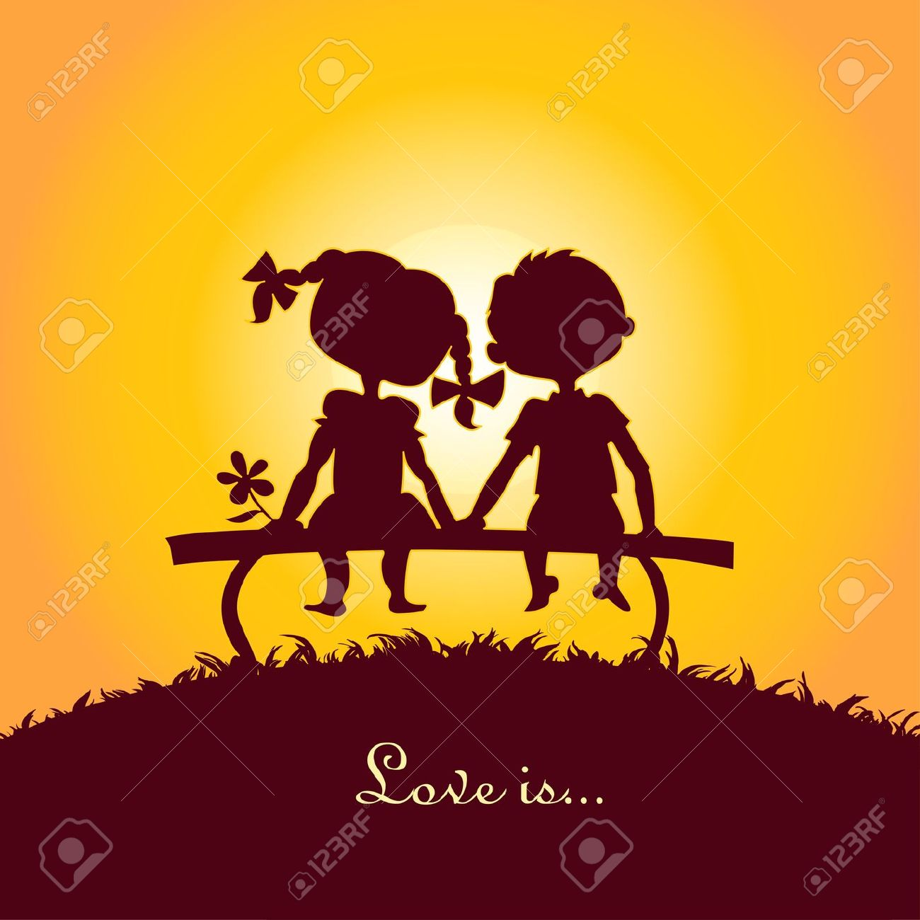 Girl And Boy Sitting Together Clipart Clipground