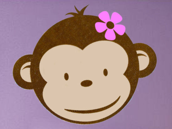 Girl Monkey Face Clipart Clipground
