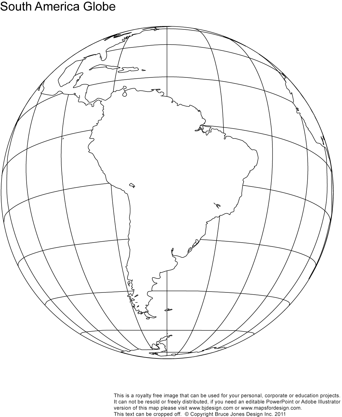 Globe North America Outline Clipart
