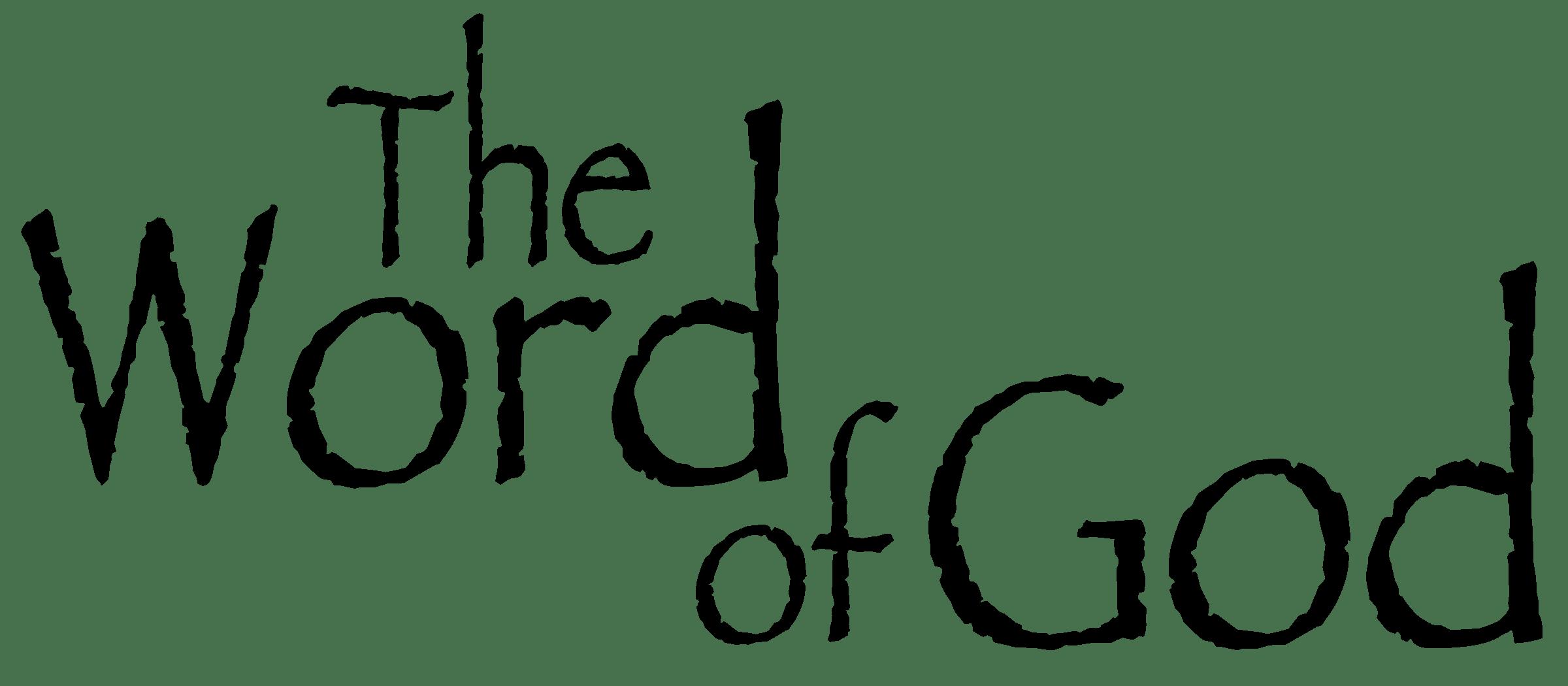 God S Words Clipart