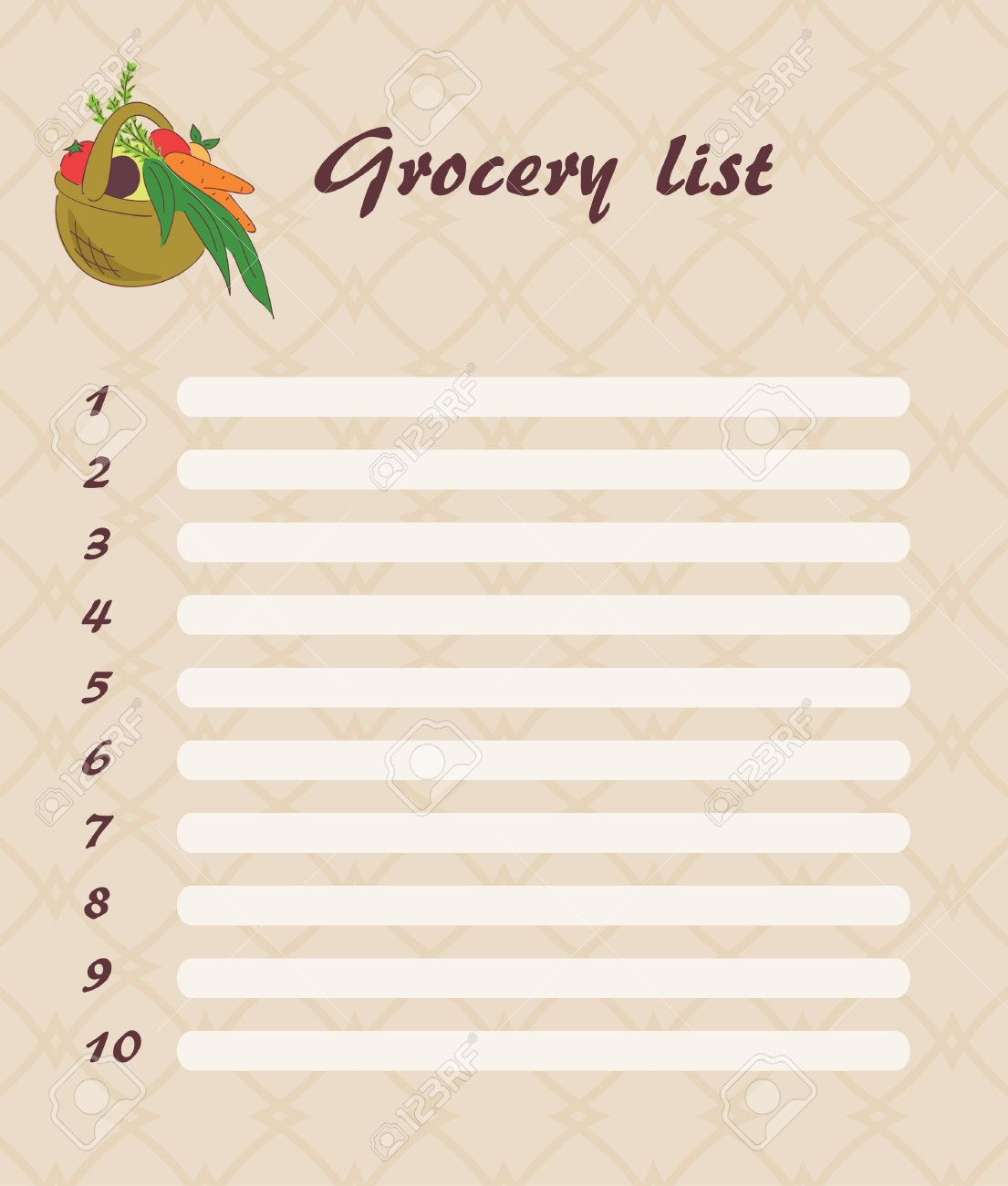 Grocery List Clipart 10 Free Cliparts