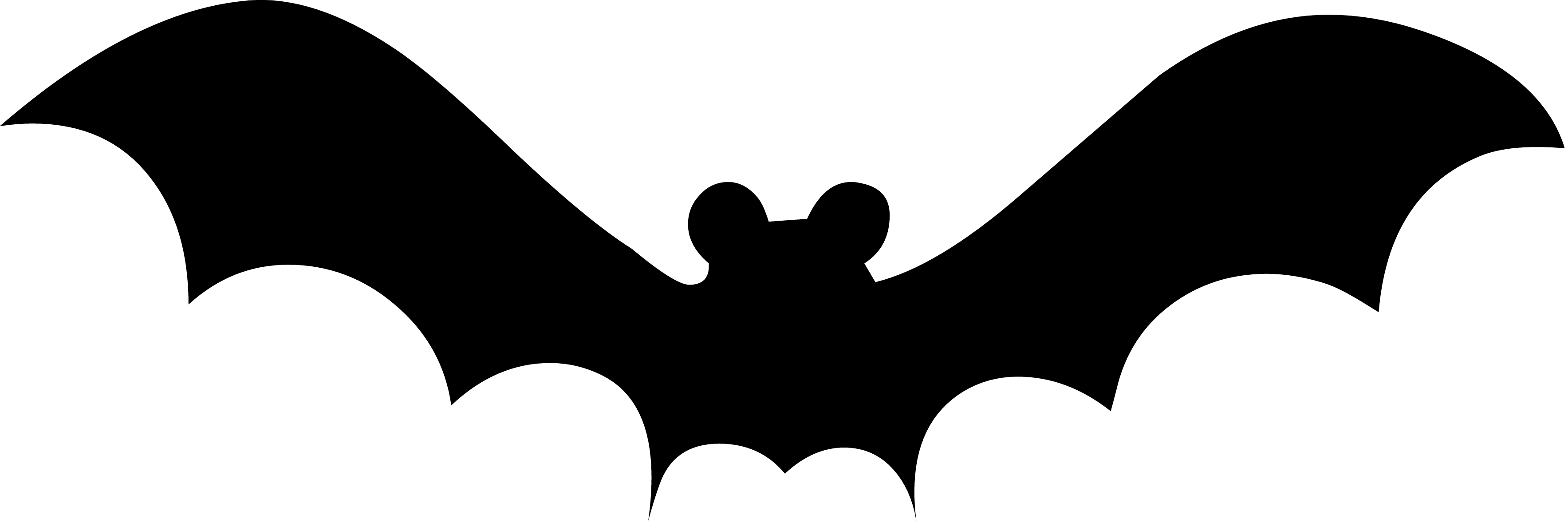 Halloween Bat Clipart Black And White Ghost Silhouette 20