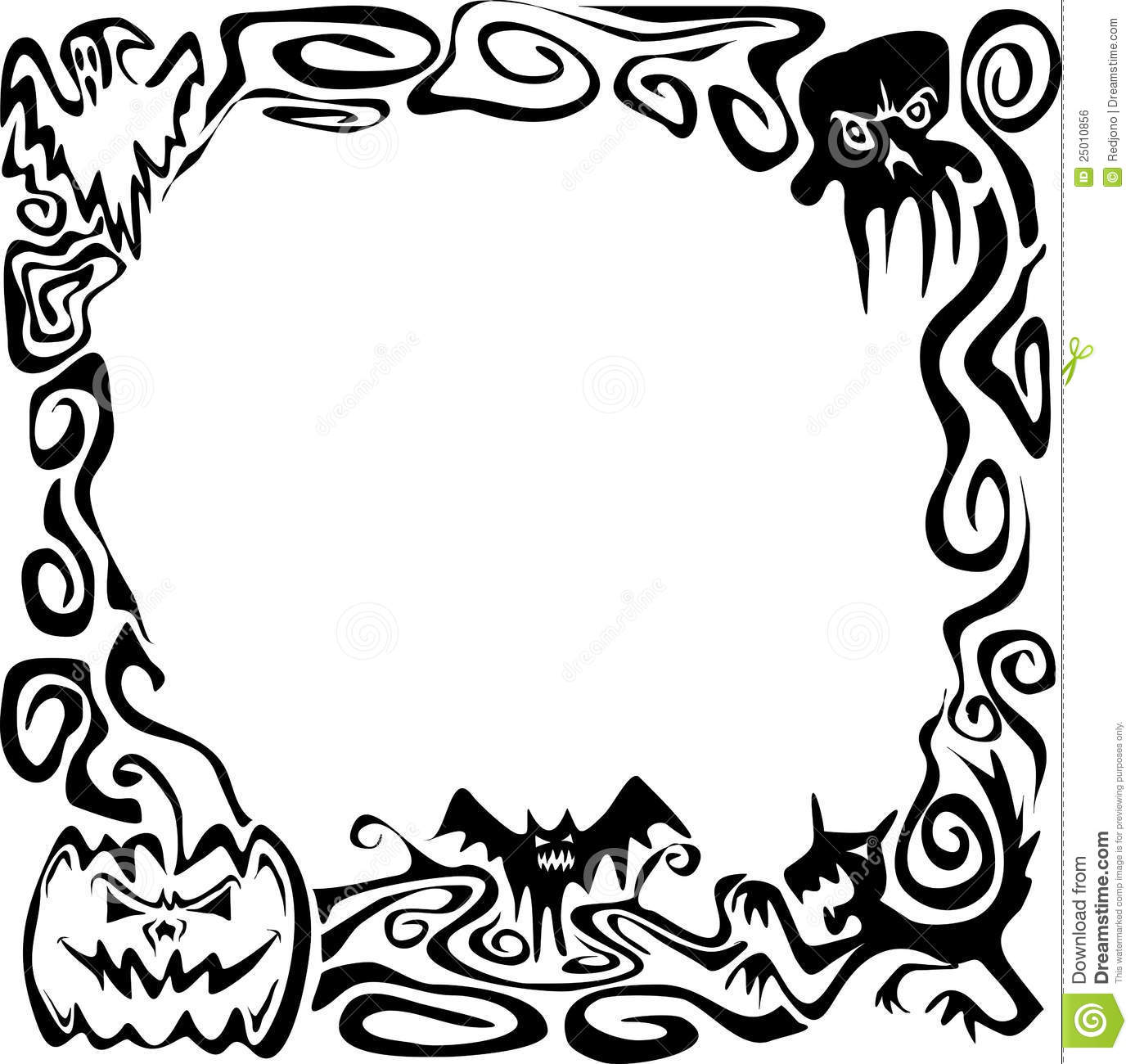 Halloween Clipart Black And White Borders