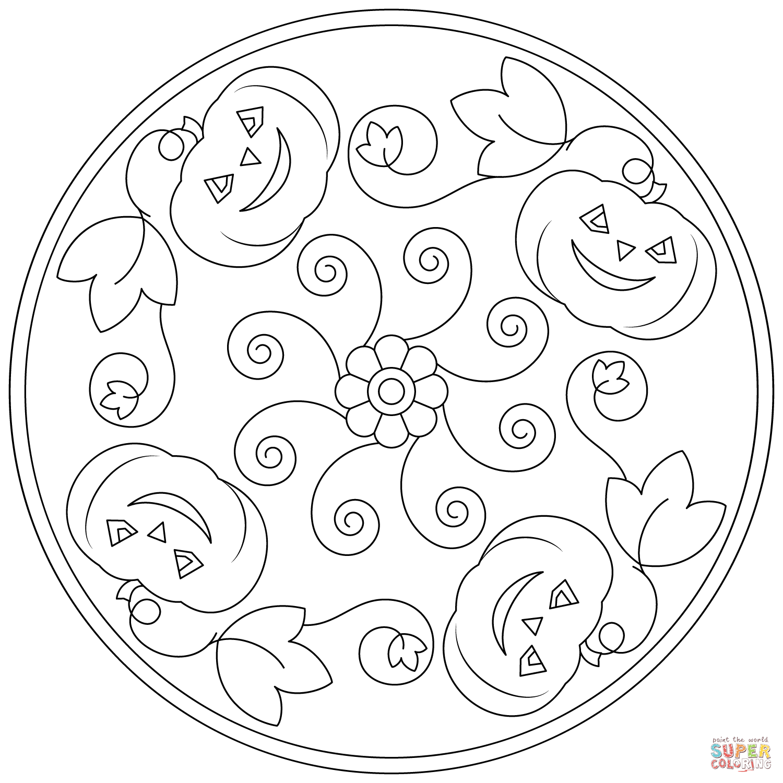 Halloween Mandala Clipart