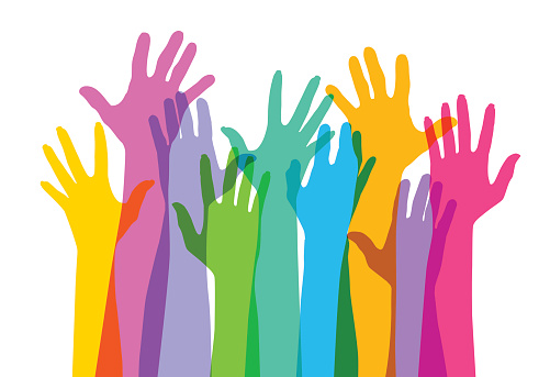 Hands raised clipart - Clipground (501 x 343 Pixel)