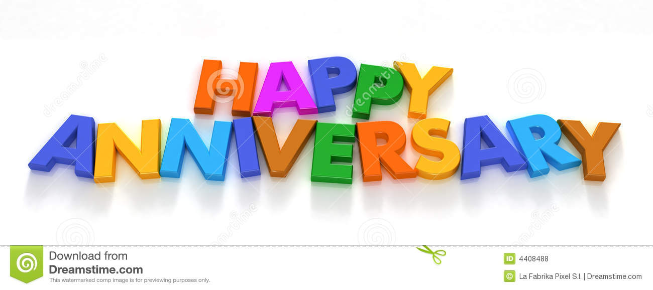 Anniversary Art Happy Clip 5yr