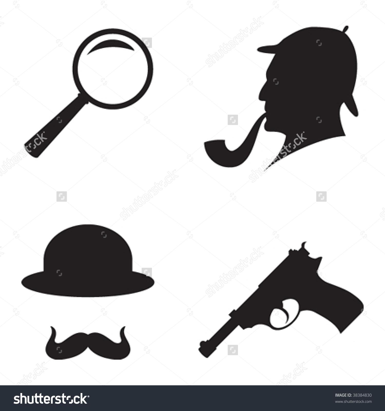 Art Black Detective Clip