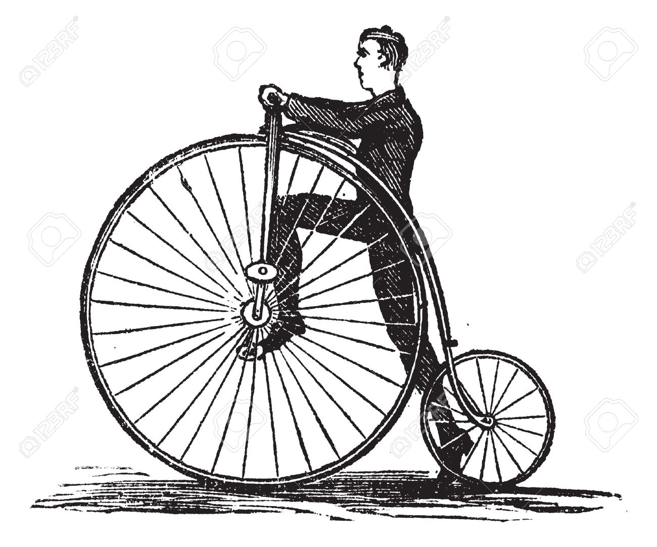 High Wheel Bicycle Clipart