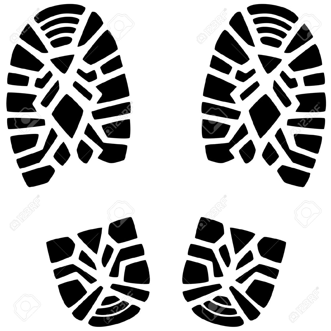 Hiking Boot Footprint Clipart 20 Free Cliparts