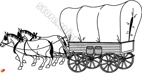 Horse And Covered Wagon Clipart Clipground