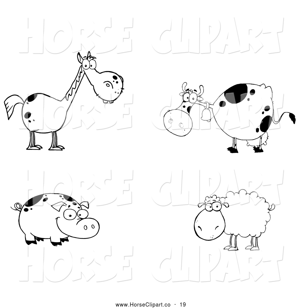 Horse Group Clipart