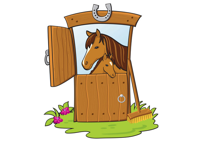 Horse In Stable Clipart Clipground