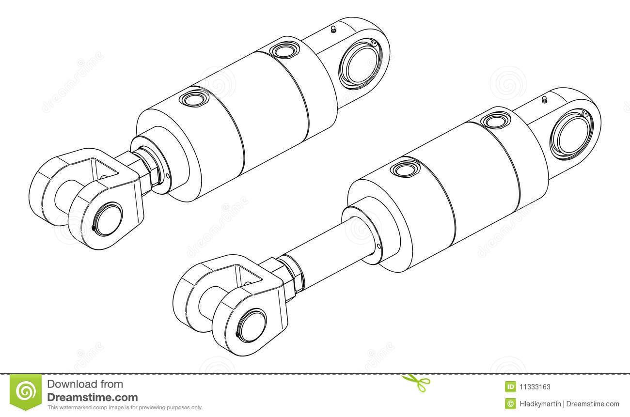 Hydraulic Cylinder Clipart