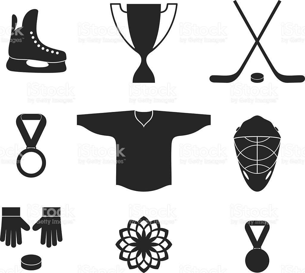 Ice Hockey Medal Clipart