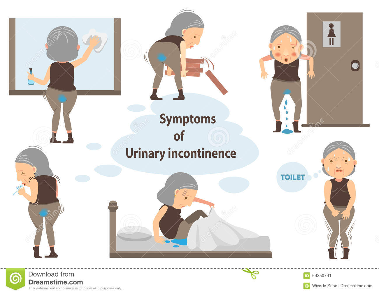 Urinary Incontinence Clipart