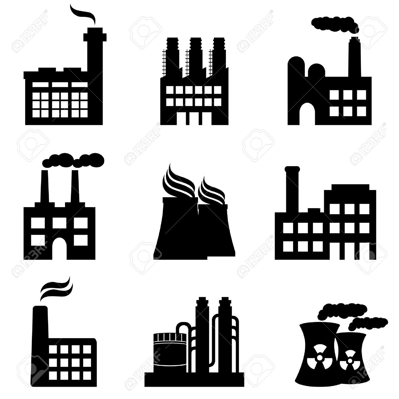Industrial Plants Clipart