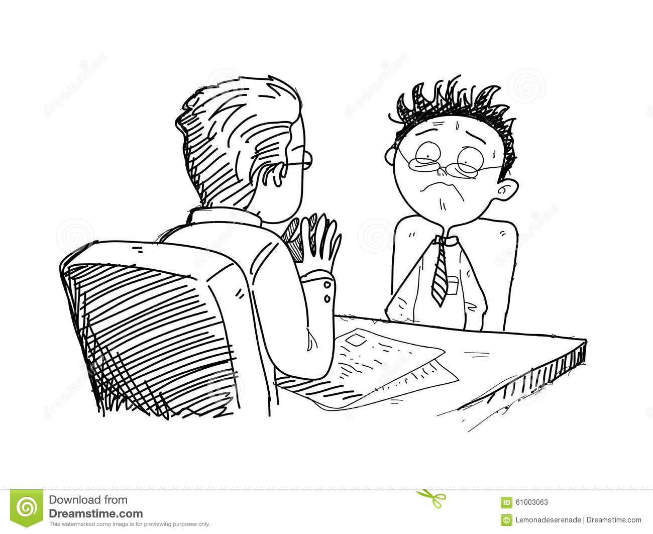 Job Interview Clipart Black And White