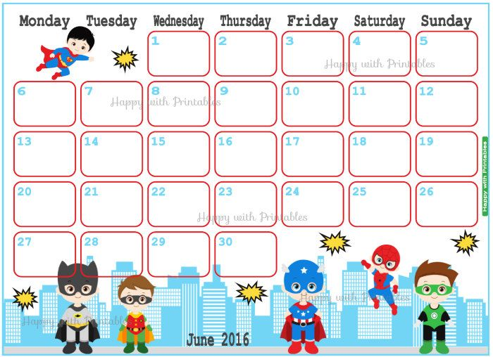 June Calendar 2016 Clipart Clipground