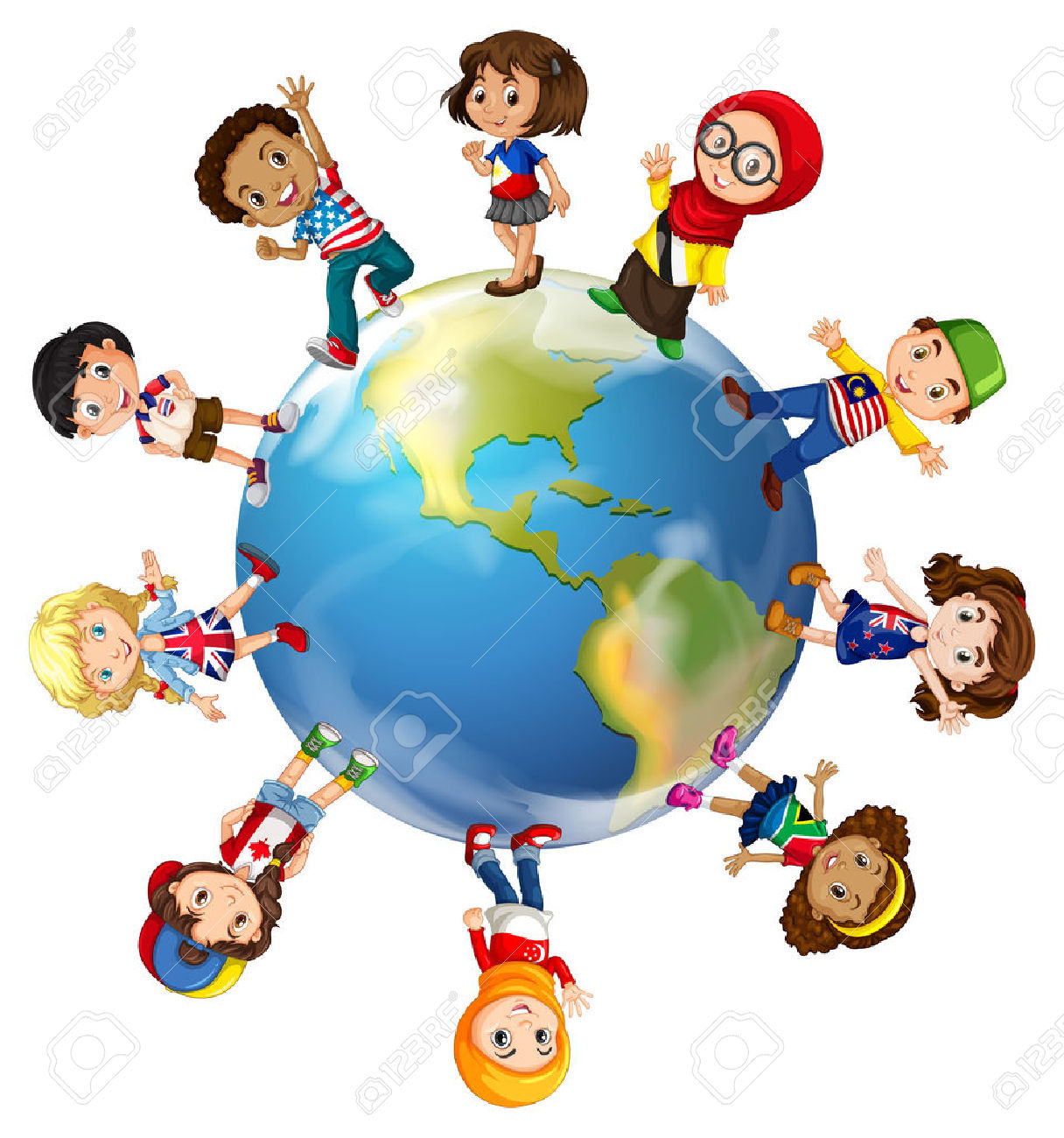 Kids Citizen World Flags Clipart 20 Free Cliparts