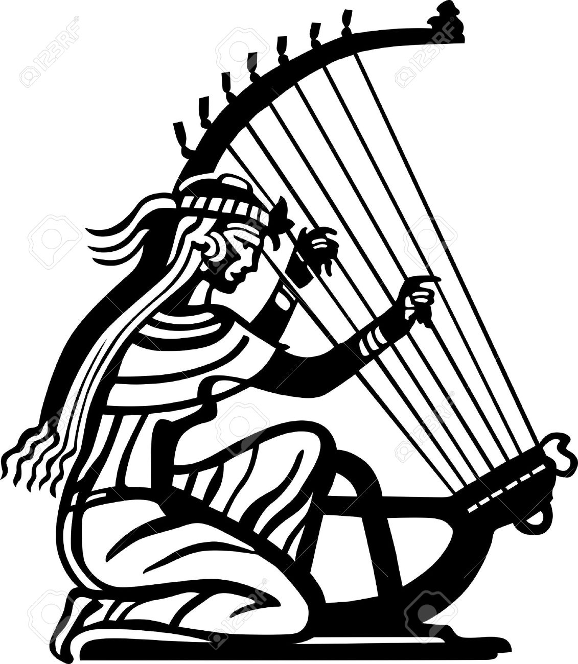 Lady Harps Clipart
