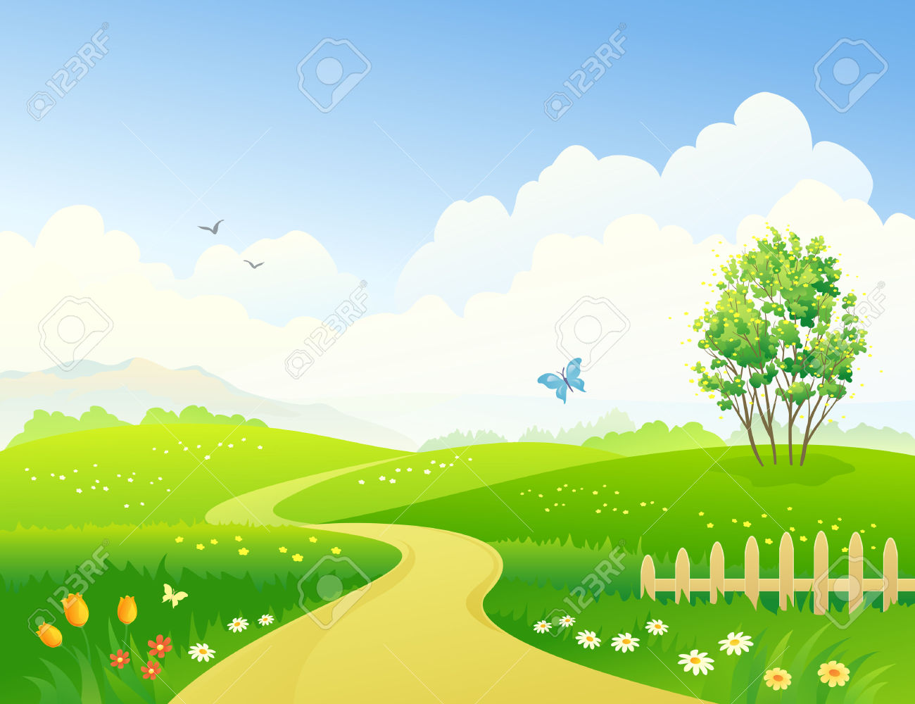 Landscaped Garden Clipart