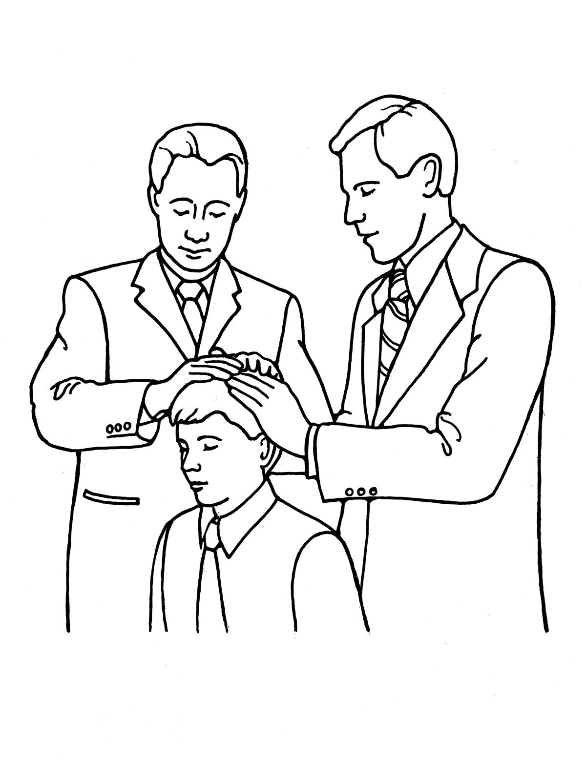 Lds Priesthood Blessing Clipart