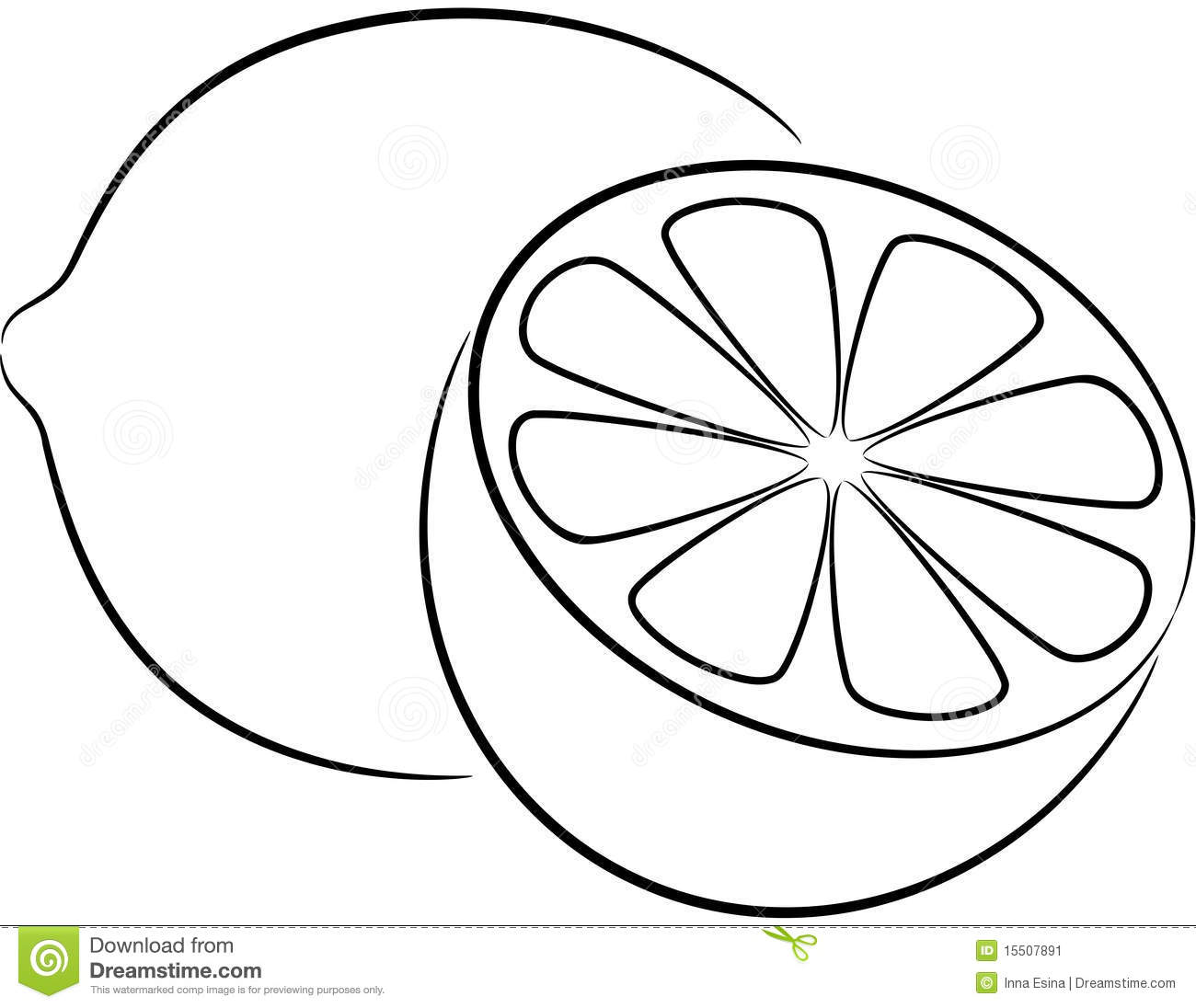 Lemon Black And White Clipart