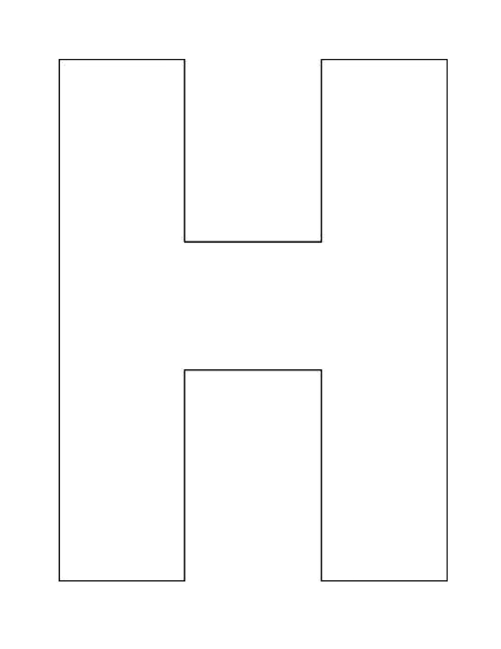Letter H Clipart Template 20 Free Cliparts