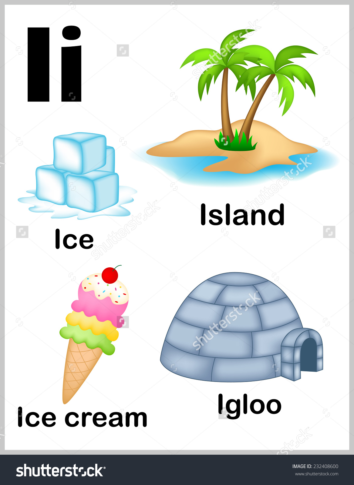 Preschool Words That Start With I