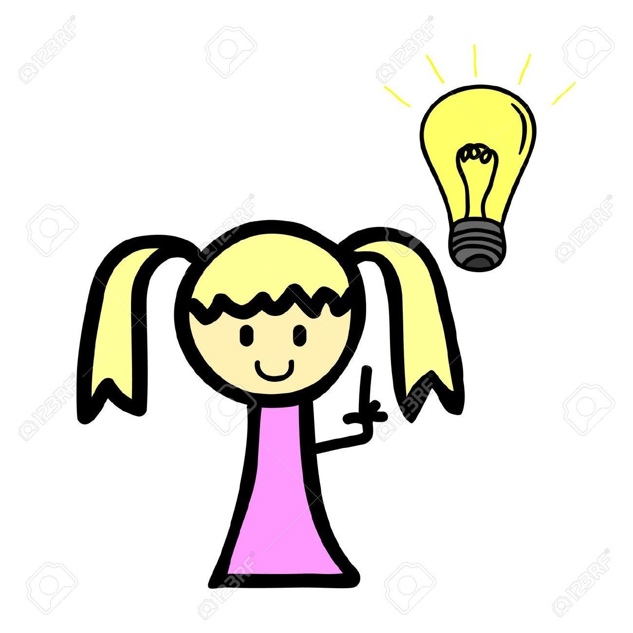 Light Bulb Girl Clipart Clipground